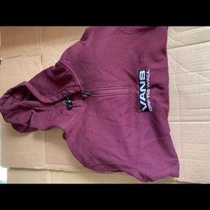 Like New Vans Maroon quarter-zip hoodie